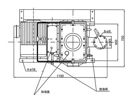 X型旋片式真空泵的外形尺寸图2